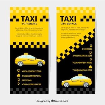 Bannières abstraites de taxi,