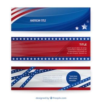Bannières américaines emballent