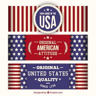 Bannières américaines rayé