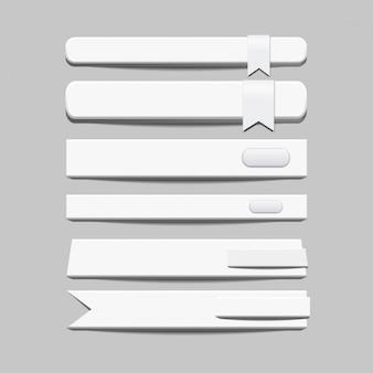 bannières blanches et boutons