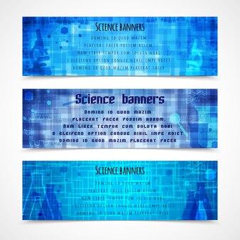 Bannières bleues sur la science