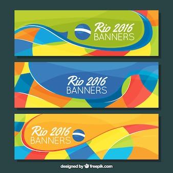 Bannières colorées de brazil