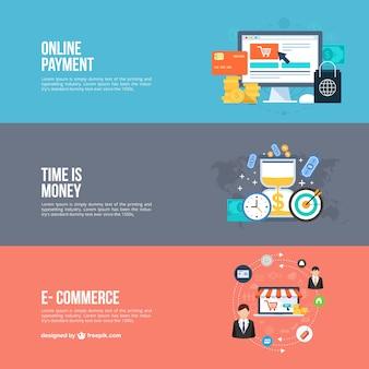 Bannières d'affaires en ligne