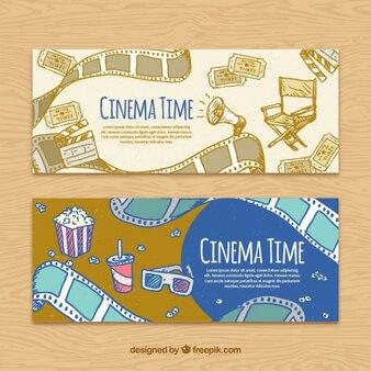 Bannières de cinéma dans le style vintage
