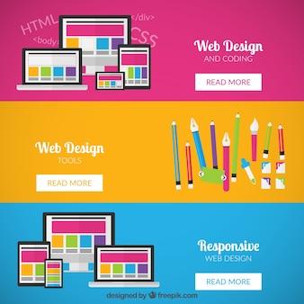 Bannières de conception Web