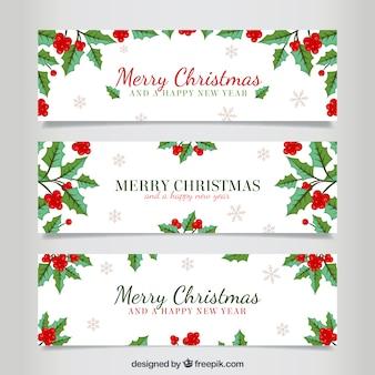 Bannières de gui de Noël