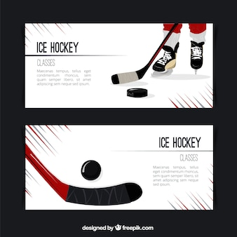 Bannières de hockey sur glace