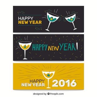 Bannières de la nouvelle année 2016