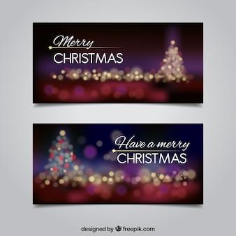 Bannières de Noël élégantes