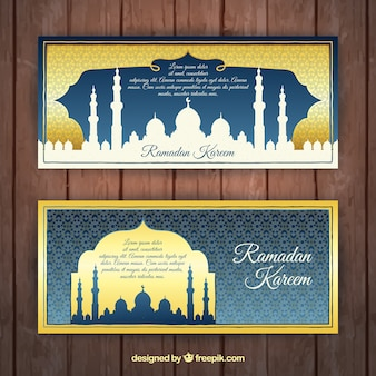 Bannières de ramadan kareem