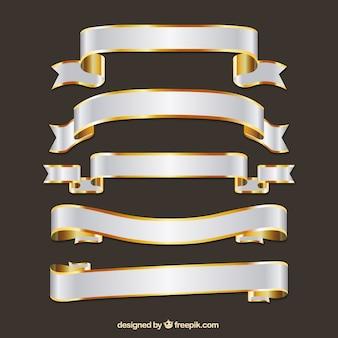 bannières de ruban dans le style rétro