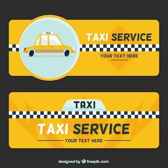 bannières de taxi Vintage