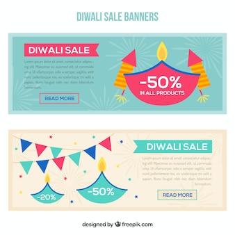 Bannières de vente Diwali