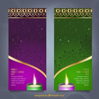 Bannières Diwali modèle