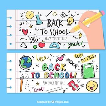 Bannières drôles pour retourner à l'école