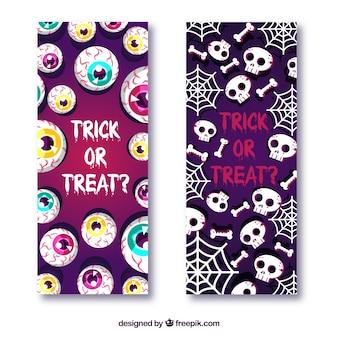 Bannières effrayantes d'Halloween