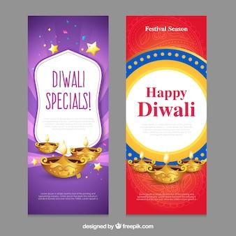 Bannières Happy Diwali