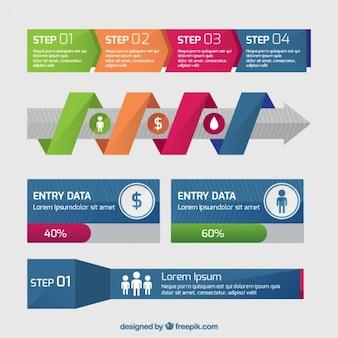 Bannières infographiques utiles dans la conception plate