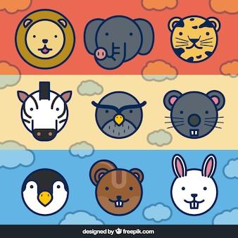 Bannières mignons avec animaux