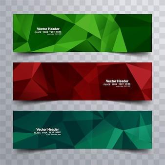 Bannières modernes colorées
