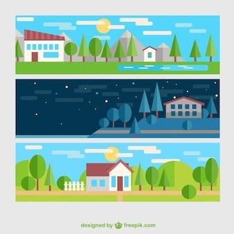 Bannières paysage rural