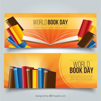 Bannières pour la célébration de la journée mondiale du livre