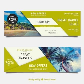Bannières pour les vacances d'été
