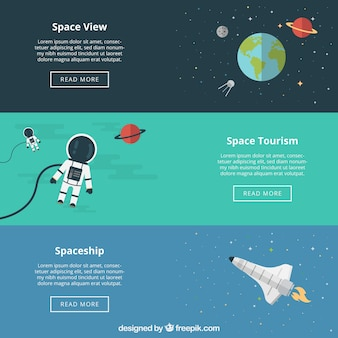 Bannières spatiales