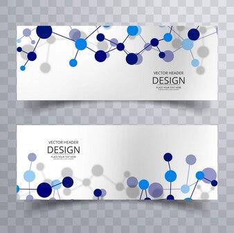 Bannières stylées modernes