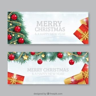 Bannières d'arbres de Noël