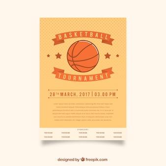 Basket-ball rétro tournoi brochure