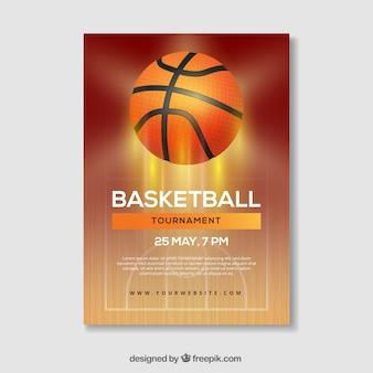Basketball livret de basket-ball de lumière