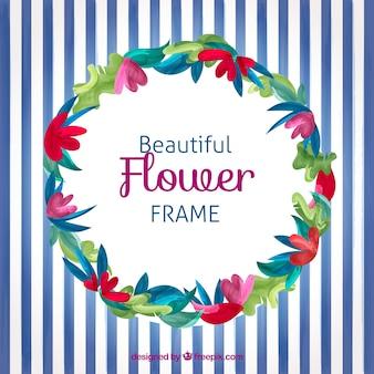 Beau cadre de fleurs
