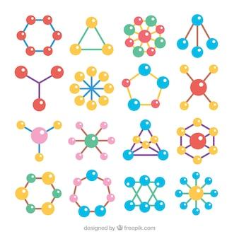 Beau ensemble de molécules