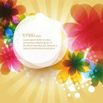Beau fond de fleurs avec espace pour votre texte
