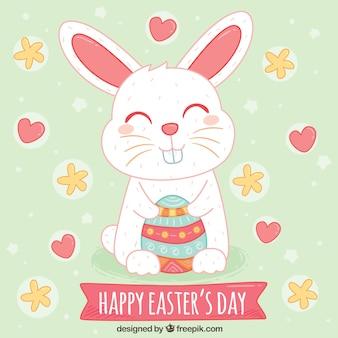 Beau fond de Pâques de lapin heureux