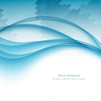 Beau fond de vague bleue