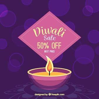 Beau fond de vente de diwali
