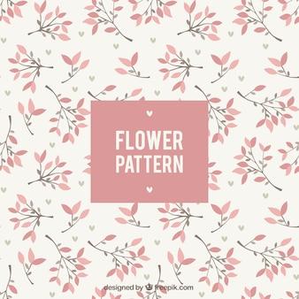 Beau motif floral design plat