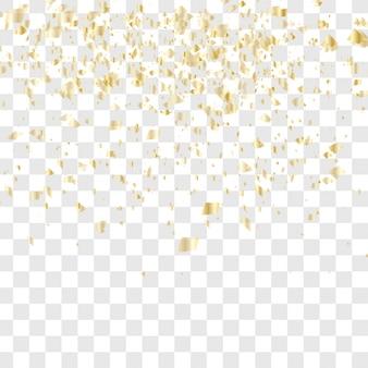 Beaucoup de confettis tombants