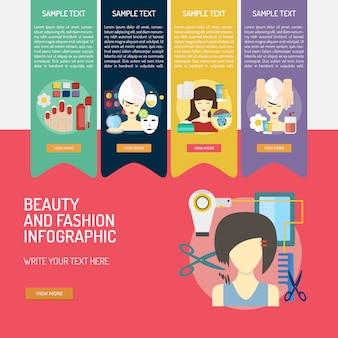 Beauté et mode conception infographique