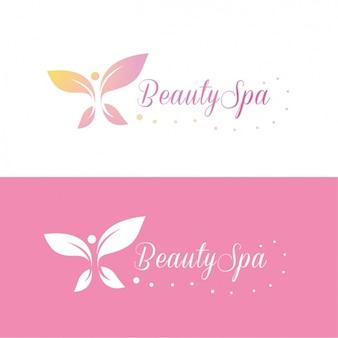 Beauty spa logo modèle