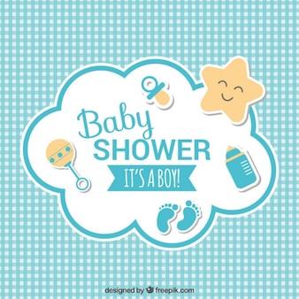 Bébé carte de douche