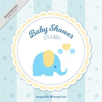 Bébé douche fond