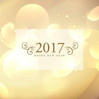 Belle 2017 célébration design carte de voeux sur fond bokeh