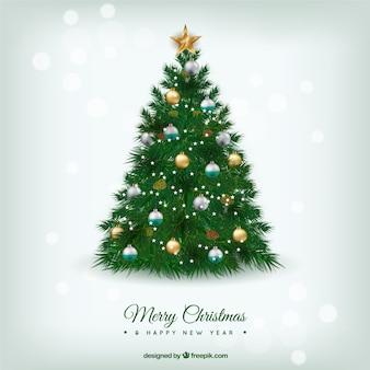 Belle arbre de Noël dans le style réaliste
