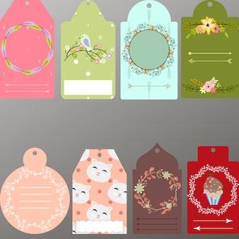 Belle collection d'étiquettes