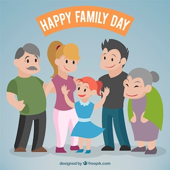 Belle famille ensemble
