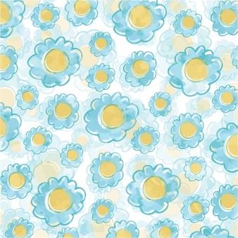 Belle fleur bleue fond