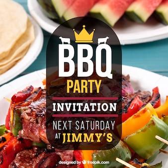 Belle invitation au barbecue